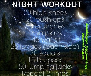 exercise, stars, and workout image