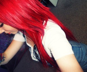 girl, red hair, and pretty image