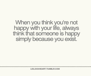 quote, exist, and happy image