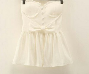 white, outfit, and romantic image