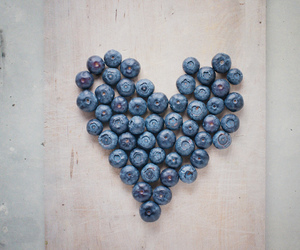 heart, blueberry, and food image