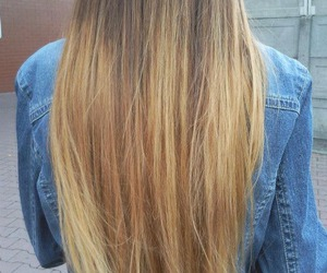 blonde, hair, and long image