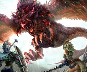 monster hunter and rathalos image