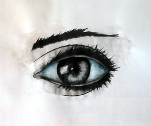 draw, eye, and ink image