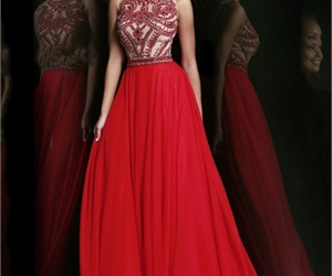 dress, red, and sherri hill 11146 image