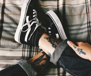 tattoo, vans, and shoes image