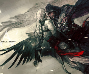 assassin's creed, ezio auditore, and altair image