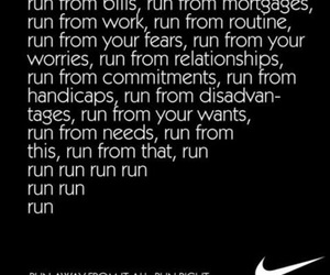 run, nike, and motivation image