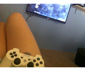videogames and girl gamer image