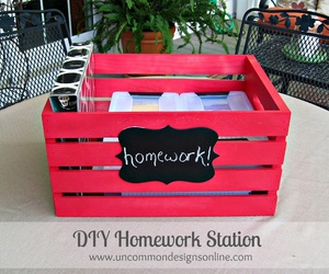 diy, do it yourself, and homework station image