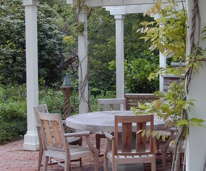 outdoor, wooden furniture, and lighting systems image