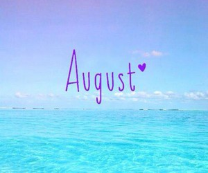 August, season, and summer image