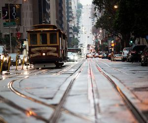 city, san francisco, and tram image