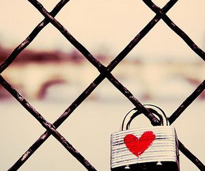 love, heart, and lock image