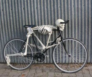 bike, photography, and skeleton image