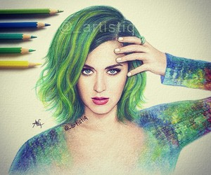 katy perry, drawing, and artistiq image