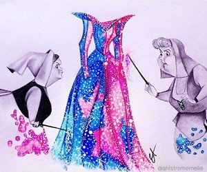 blue, pink, and sleeping beauty image