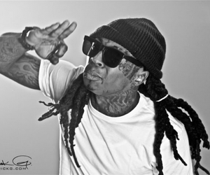 black and white, lil wayne, and shades image