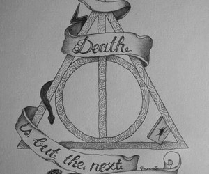 harry potter, death, and deathly hallows image