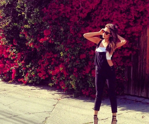 fashion, shay mitchell, and flowers image