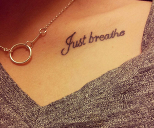 just breathe and tattoo image