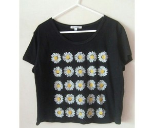 flowers, outfit, and shirt image