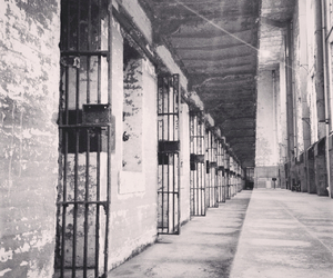 abandoned, prison, and black and white image