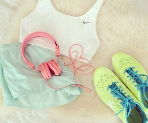 bits, shoes, and fitness image