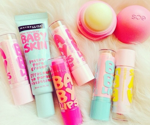 eos, baby lips, and lip balm image