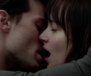 couple, christian grey, and elevator image