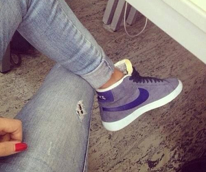 blazer, jeans, and shoes image
