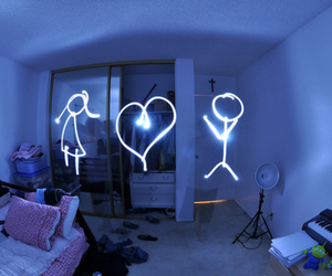 light, heart, and photography image