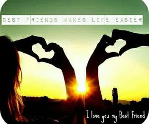 best friend, best friends, and heart image