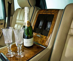 luxury, car, and champagne image