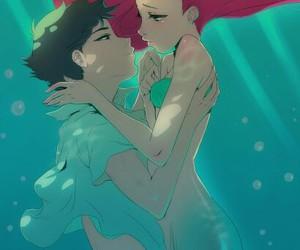 ariel, disney, and anime image