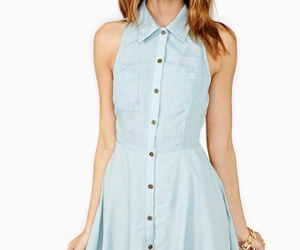blue dress, dress, and vintage dress image