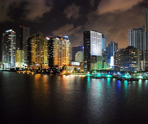 Miami, night, and i'm in miami beach image
