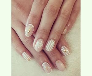 cream, manicure, and nail art image