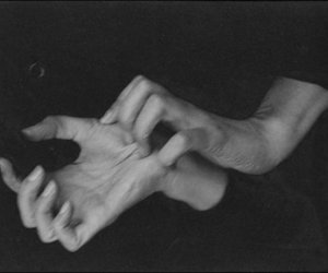 b&w, beautiful, and hands image