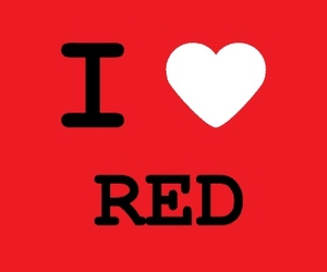 red and love image