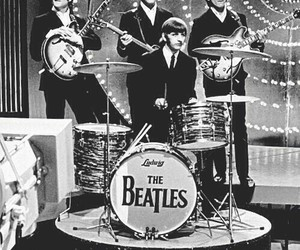 beatles, black, and white image