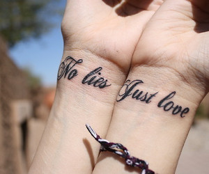 tattoo, love, and lies image