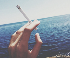 cigarette, hand, and holidays image