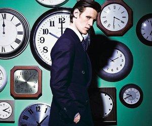 matt smith, doctor who, and clocks image