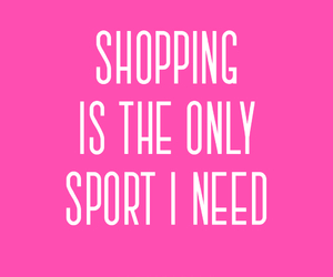 girl, quote, and shopping image