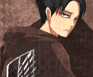 anime, guy, and levi image