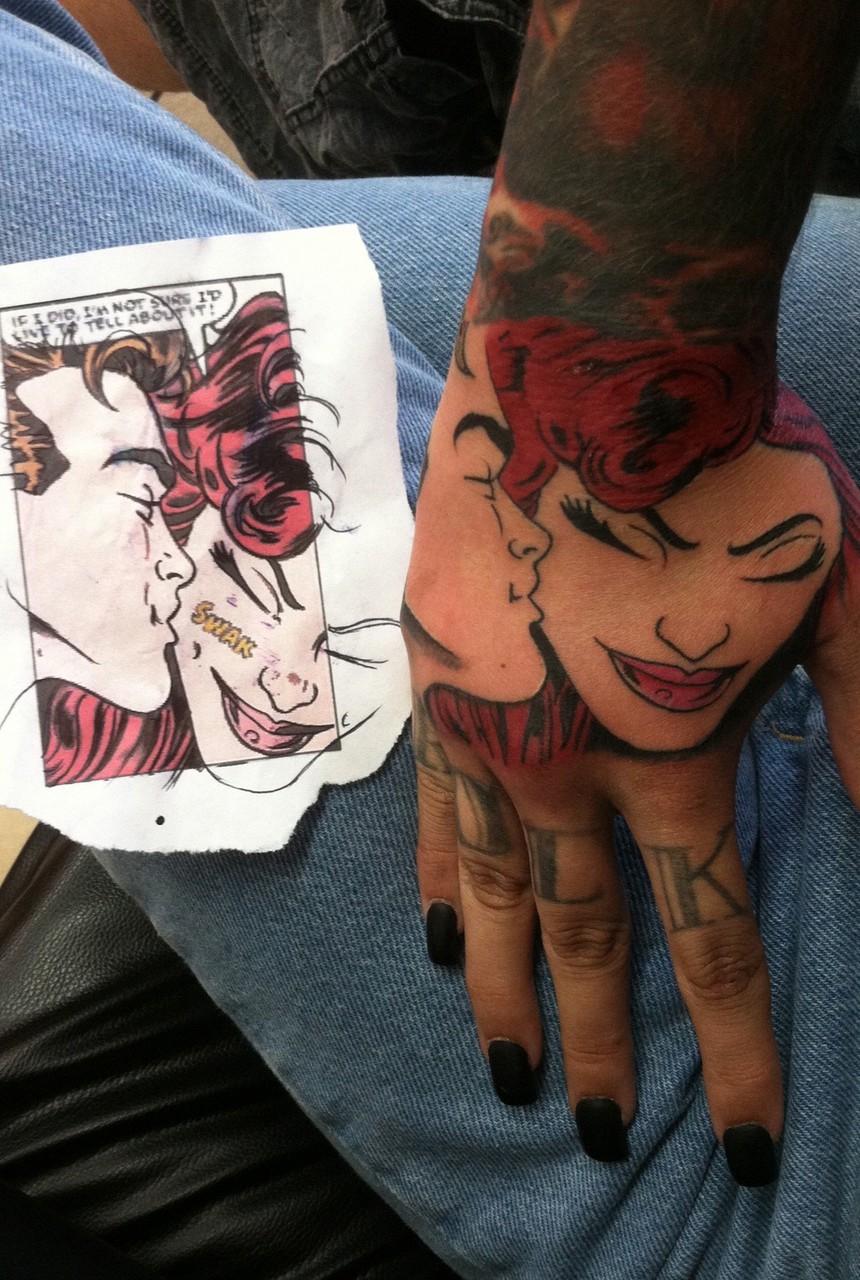 tattoo, comic, and tatto image