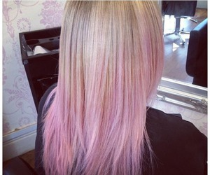 blonde, hair, and pink image