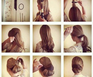 hair, tutorial, and cabello image