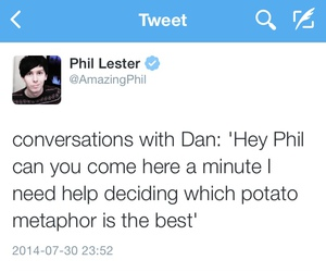twitter, amazingphil, and youtuber image